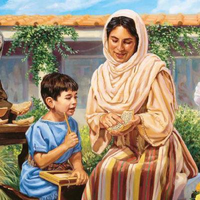 A faithful mother teachers her son.